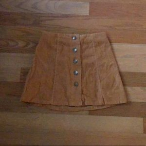 Romwe corduroy mini skirt